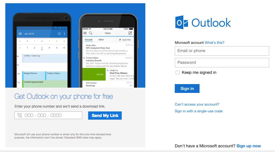 Hotmail entrar Outlook